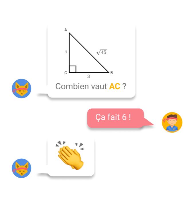 Exercice de maths avec Yokimi